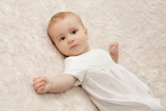 8255eca01dda Christening or baptism Romper  Oliver  by Adore Baby.