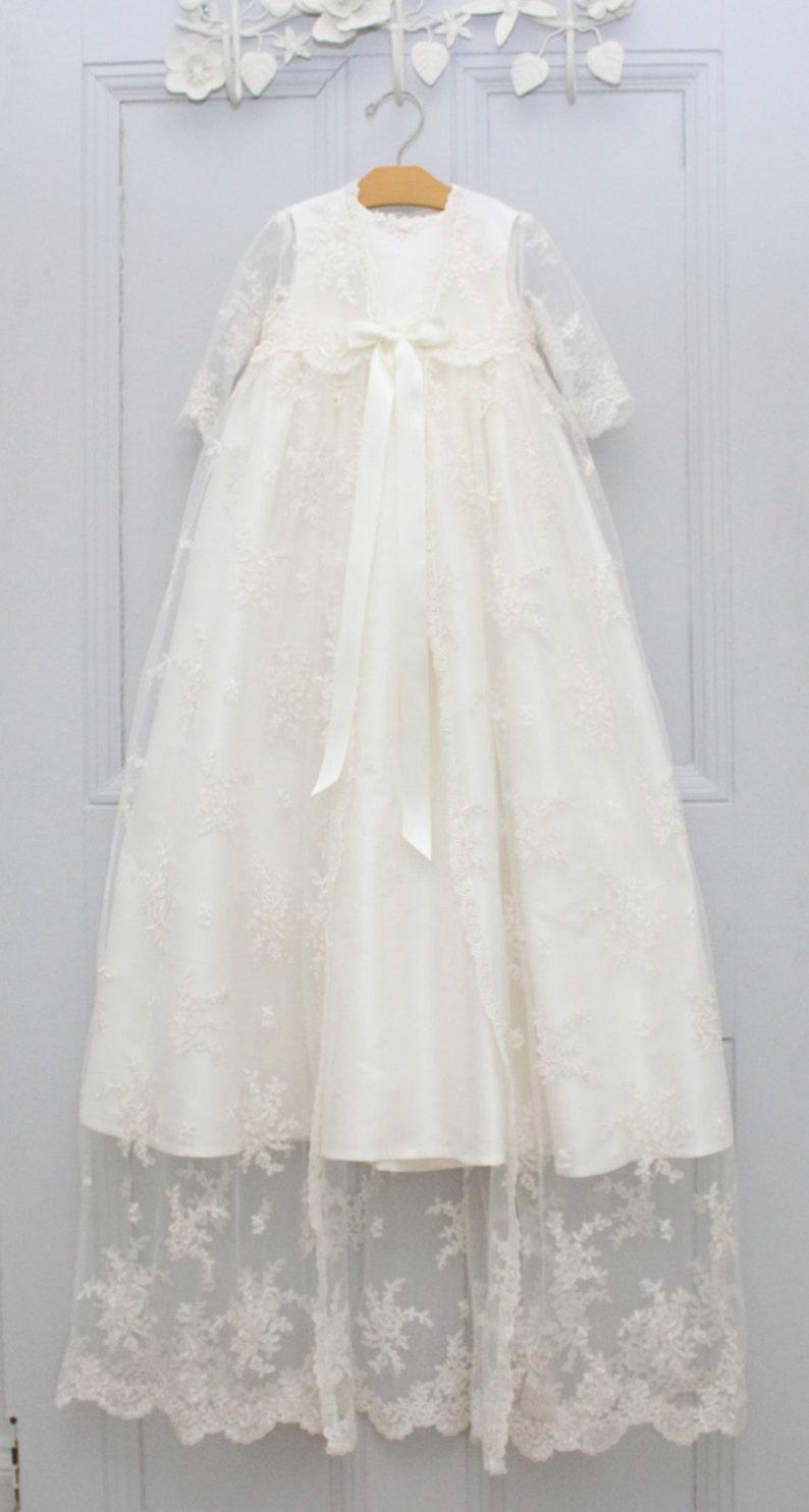 970d2832bfc Taufkleid Charlotte Taufe Kleid Segen Kleid Taufe