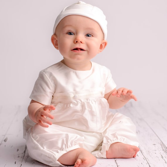 9fda626b5985 Christening or baptism Romper  George  by Adore Baby.