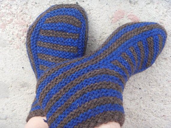 Knitting Patterns Knit Slipper Pattern Knitted Slippers Knit Etsy