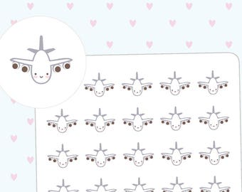 Kawaii planes planner stickers - 35 cute planner stickers kawaii