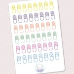 Cute pill planner stickers  48 colorful pills medicine reminder medicine tracker planner stickers