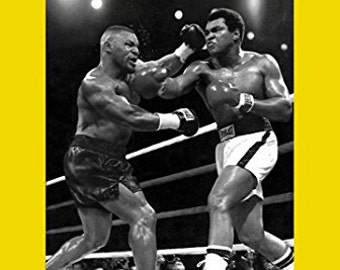 BUY 2 GET ANY 2 FREE MIKE TYSON KNOCKOUT V BERBICK POSTER PRINT A4 A3 SIZE