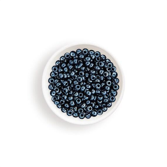 Miyuki Round Rocailles 6//0 Metallic Black Luster Seed Beads RR-451