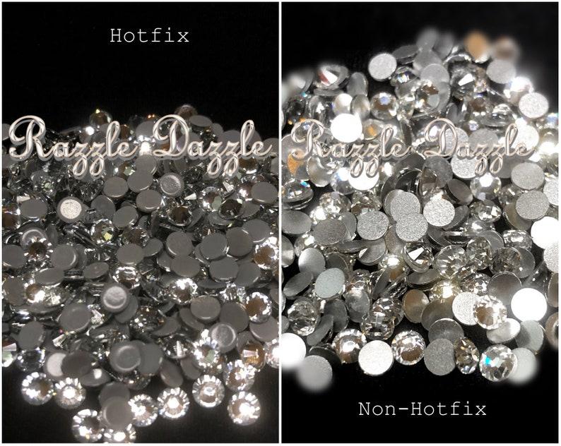 3eb79ef7ee83e Crystal Clear Rhinestones Non Hotfix Hotfix Iron On DIY Bling