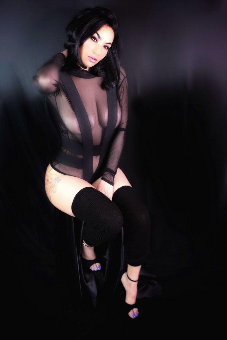 Bodysuit Mesh Bodysuit Harness Bodysuit Neck Sheer Bodysuit Bandage Bodysuit See Through Bodysuit