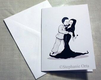 Mr. & Mrs. Addams Card Greeting Card