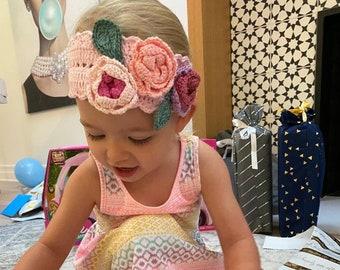 Baby Girl HatBootiesBeanie /& Shoes SetBaby GiftPhoto PropBaby Shower PresentFlower Embellished