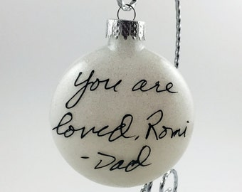 Custom Handwriting Ornament - Personalized Handwritten Ornaments