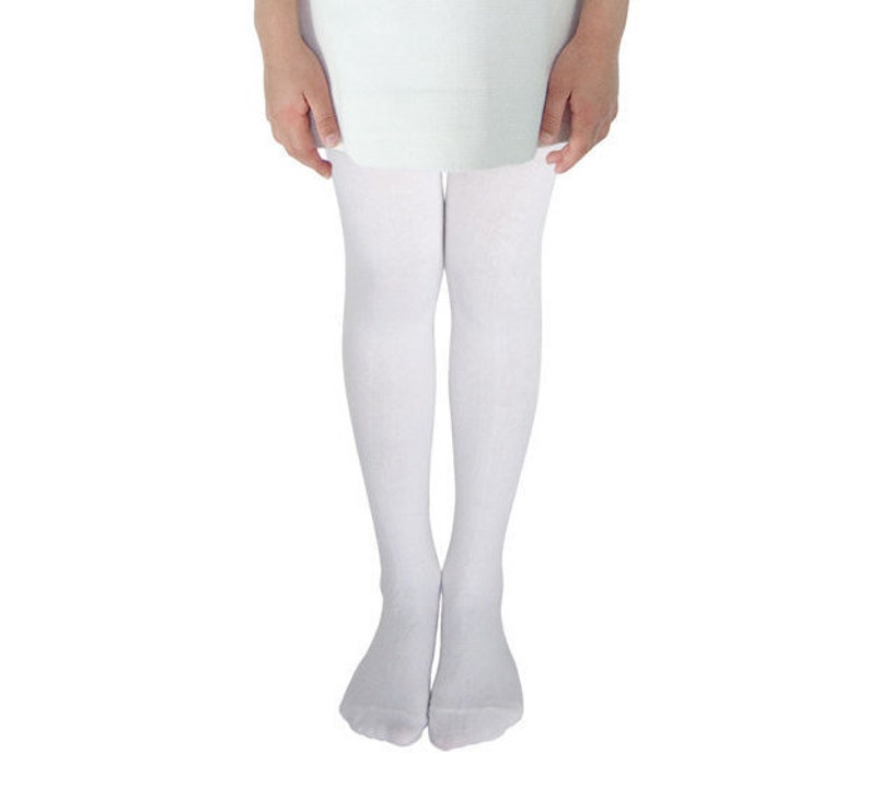 55a49e7fe SALE White Tights for Girls