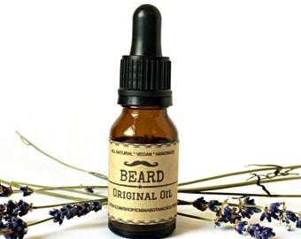 UNSCENTED BEARD OIL | Natural Beard Oil |Beard Conditioner |Handmade Beard Oil | Beard Grooming Oil | Vegan Beard Oil | Men's Facial Oil |