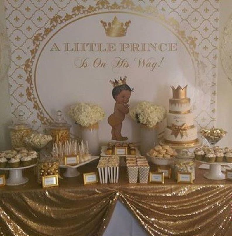 Gold White Royal Blue Baby Prince Crown Baptism Etsy