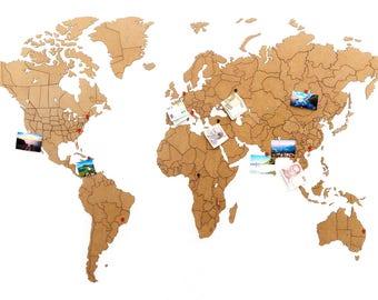 World map puzzle | Etsy