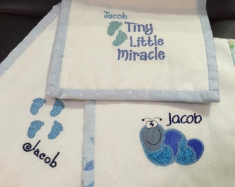 Baby Burp Cloths Personalized