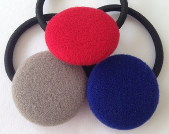 Button Hair Tie/ Ponytail Hair Elastic