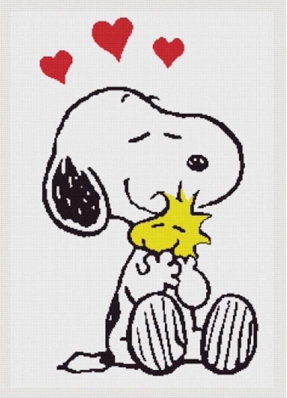 Snoopy cross stitch pattern small and medium size