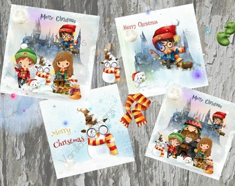 Harry Potter Christmas Card Ideas.Cards Muggles Etsy Uk