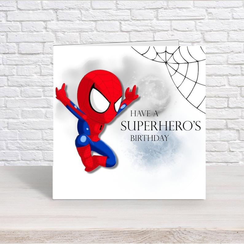 Personalised Spiderman  Birthday Card