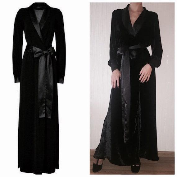 Womens Long Velvet Robe Velour Maxi Robe New Years Gift Etsy