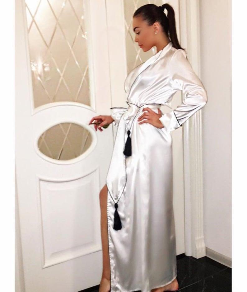 Silk Robe  Kimono Robe  Satin Robe  Long Silk Robe  Silk Robe  a92e9e55c