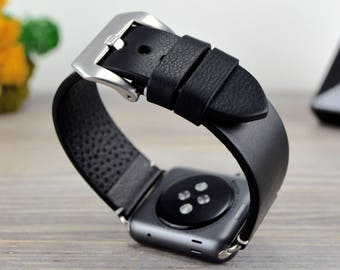 Black Apple watch band, Apple band for Women, Apple band Men, Wearable technology, Apple 38, 40, 42, 44mm  Series1-6 CHRISTMAS SALE