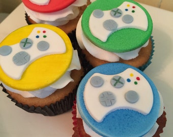 Fondant Game Controller Cupcake Toppers