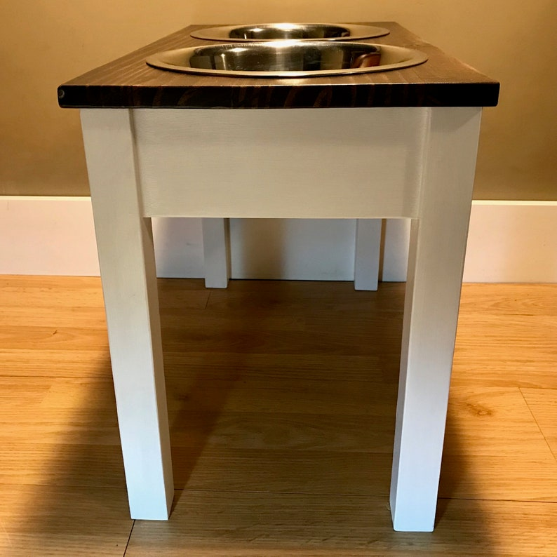 Elevated Dog Feeder Raised Dog feeder for small pet Farmhouse style Elevated Dog Bowl Raised Dog Bowl Rustic Bowl Stand