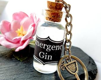 Emergency Gin Keyring, Gin Stocking Filler, Secret Santa Gift, Gin Key Chain,  Gin Gift Set,