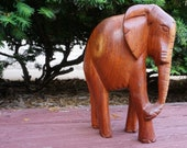 Carved Wooden Elephant - ...