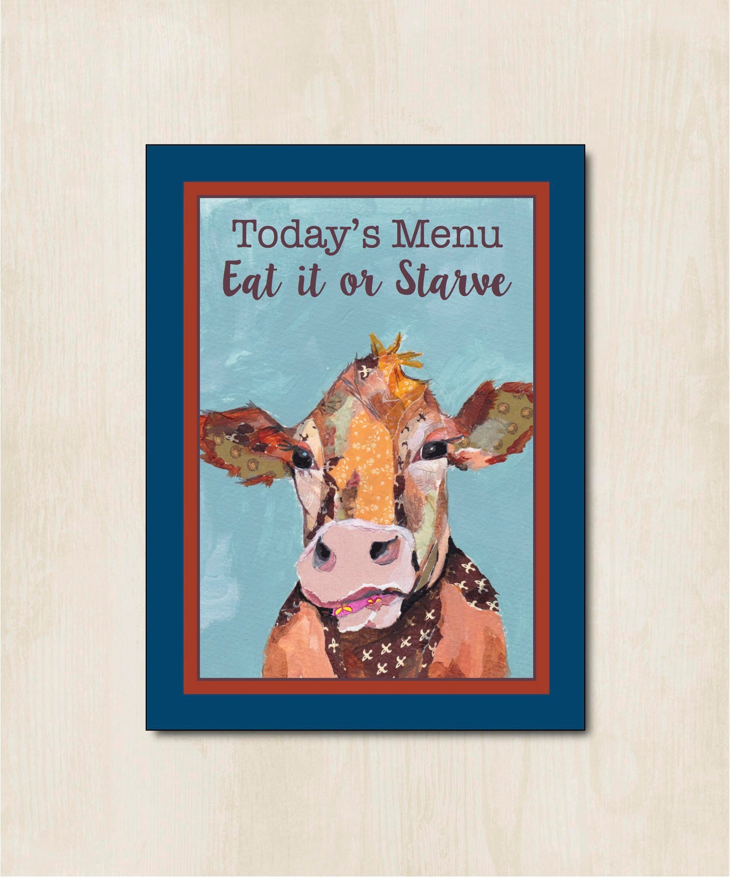 Cow Sign Cow Sign & quote Wooden Cow Sign Farm Cow Sign   Etsy