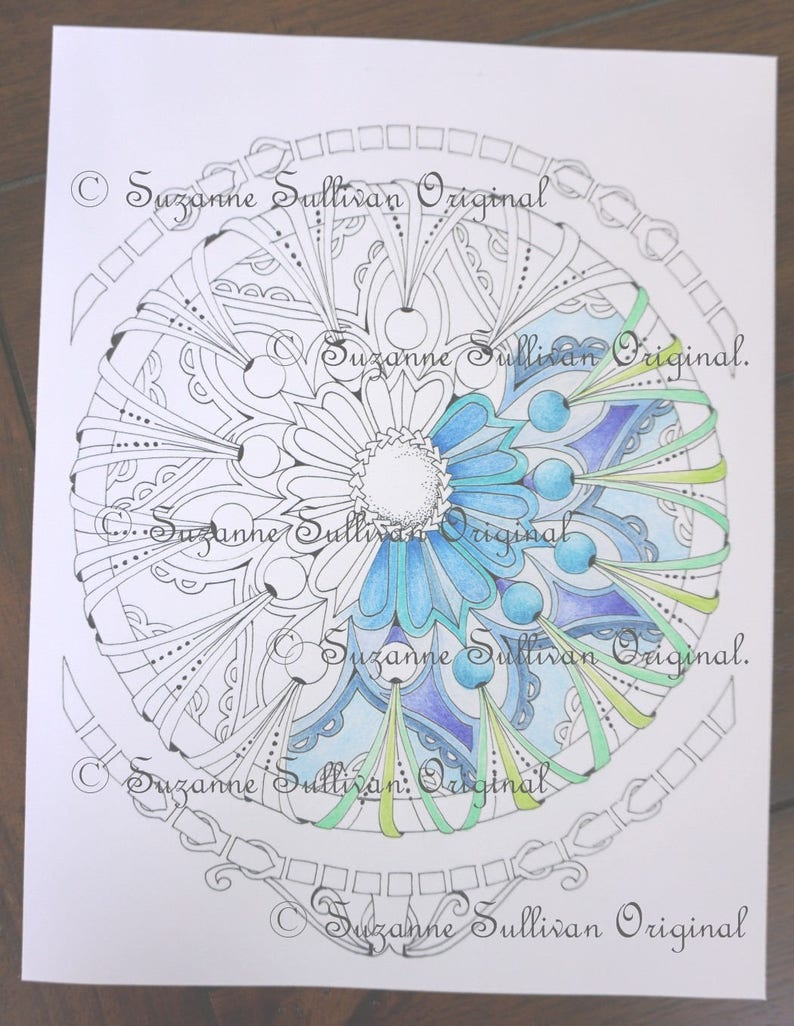 Mandala Coloring Page, Adult Coloring Page, Coloring Pages, Stress Relief,  Coloring Book Pages, Printable Download, Teen Coloring Page, #282
