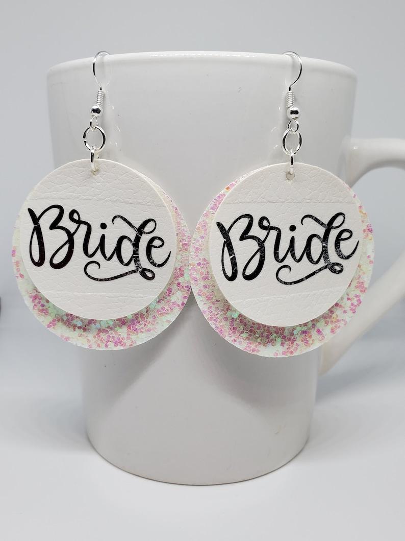 BRIDAL PARTY EARRINGS Bride Earrings Bride Tribe Earrings Bridal Party Gift Bachelorette Party Gift Bridal Shower Gift