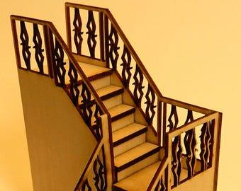 Miniature 1:48 scale Corner Staircase