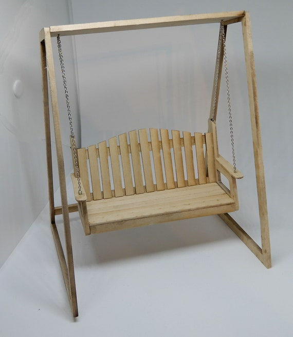 Miniature 1:12 Scale Swinging Patio Bench Kit | Etsy