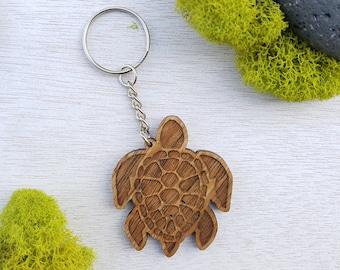 Wood turtle keychain  3ae74f75e6