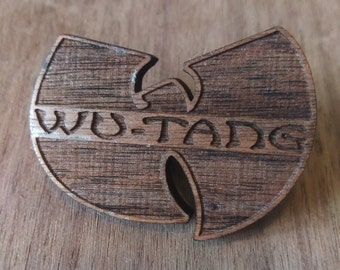 Laser Engraved | Wu-Tang | Solid Wood | Hat Pin | Festival Hat Pin | Gift For Him | 90's Hip Hop