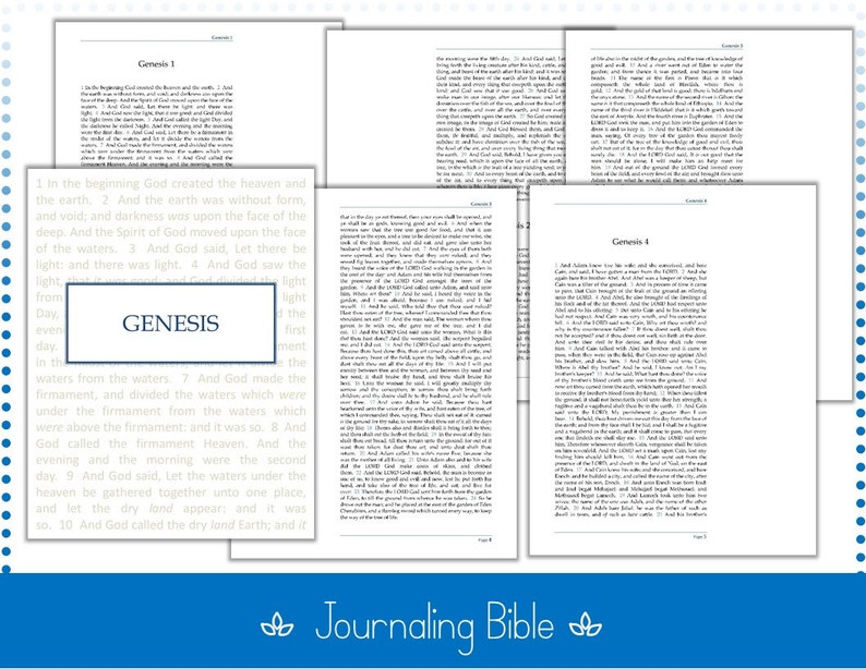 photograph about Printable Books of the Bible identified as KJV Printable Journaling Bible - 8.5\