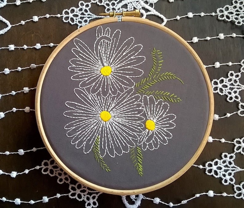 Retro Floral Pattern Hand Embroidery Kits Beginners Needlecrafts Supplies
