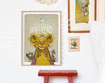 Original STORYTALES Lion King Wall Art Printing Poster Illustration Print Drawings Graphic Design Art Work Home Decor