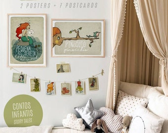 Pack KID ROOM (2 Posters + 8 small illustration) | 20% OFF