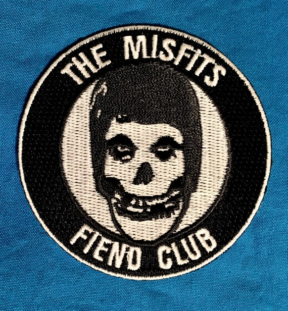 MISFITS EMBROIDERED sew on PATCH horror punk chrimson ghost danzig samhain