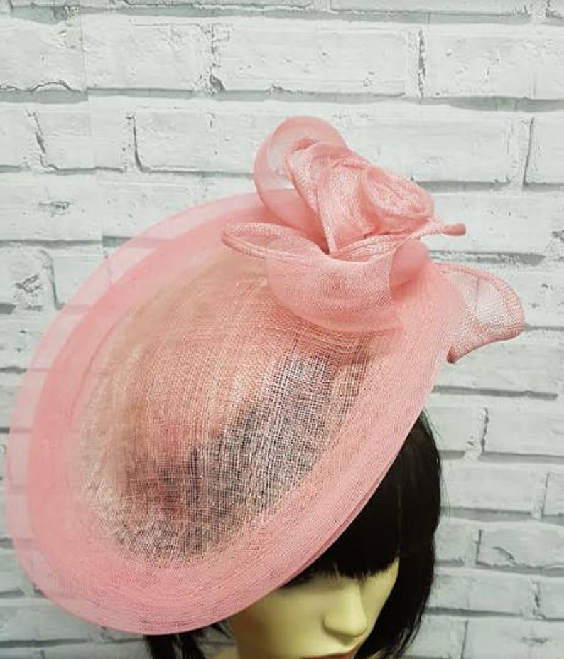 cd770cd2ead6d Pink Sinamay Fascinator