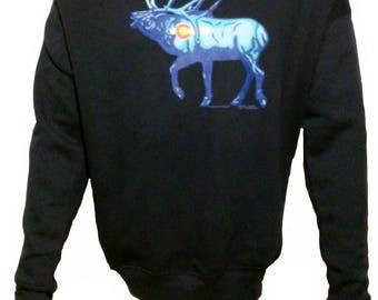Morning Glory Elk   Sweatshirt    Sizes//Colors