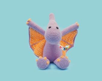 Crochet Dinosaur Pattern - Petra the Pterodactyl - A Cute Amigurumi Pattern by The Clumsy Unicorn