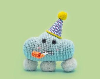 Crochet Cloud Pattern - Sally the Snow Cloud - A Cute Amigurumi Pattern by The Clumsy Unicorn