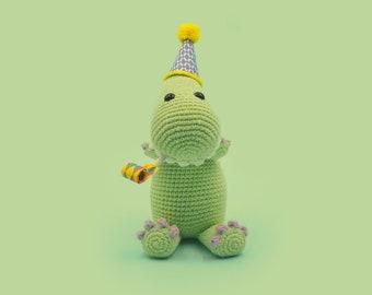Crochet Dinosaur Pattern - Taylor the Tyrannosaurus Rex - A Cute Amigurumi Pattern by The Clumsy Unicorn