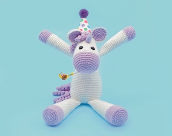 Crochet Unicorn Pattern - Calista the Unicorn - A Cute Amigurumi Unicorn Pattern by The Clumsy Unicorn