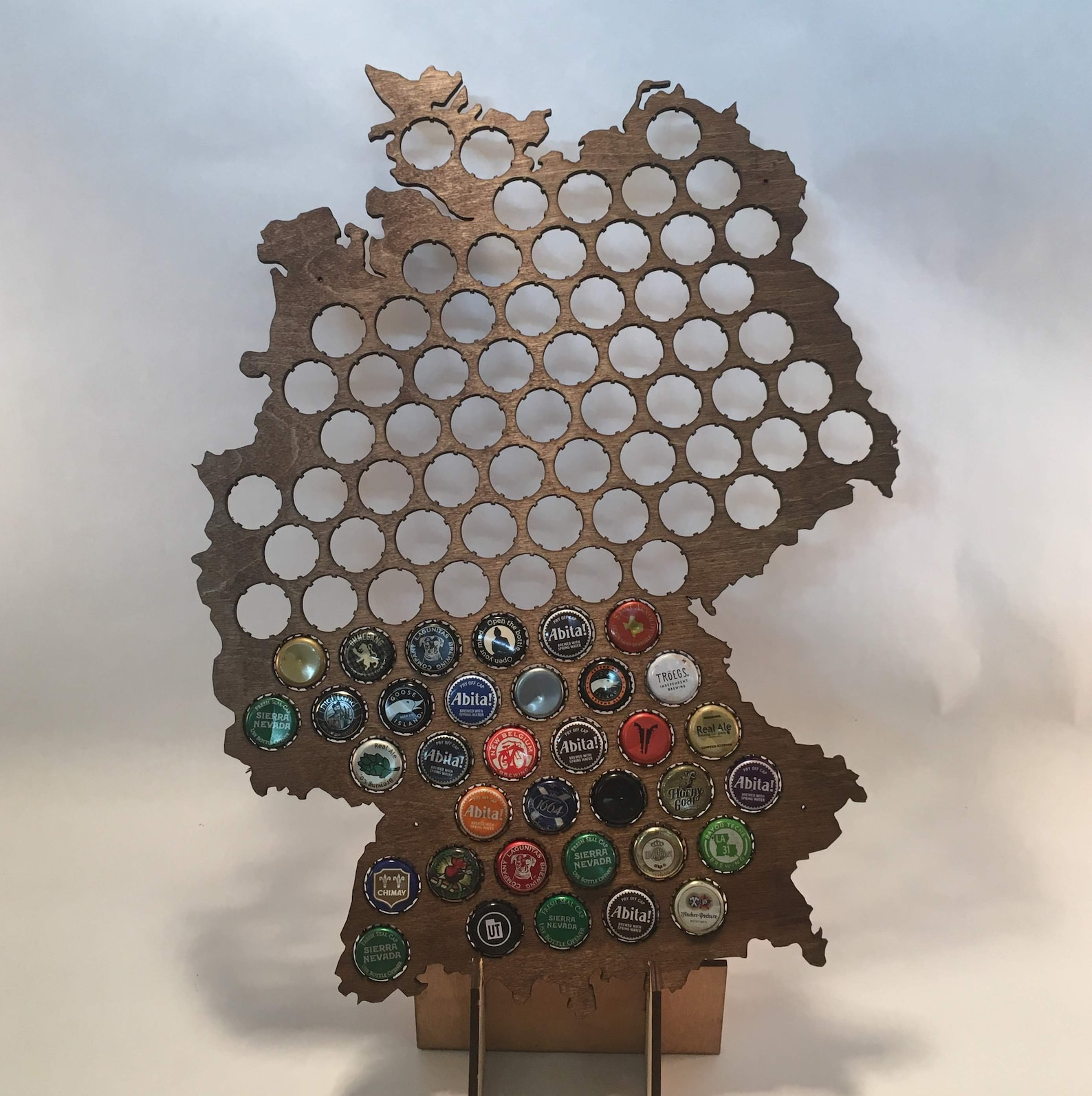 Beer Cap Map of Germany- Perfect for Christmas!