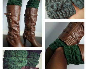XOXO Cable Chunky Boot Cuff Pattern
