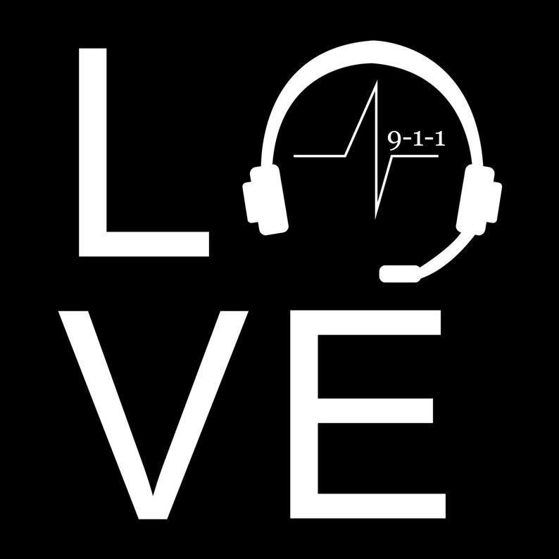 Dispatch Love  5X5 Vinyl Decal image 0